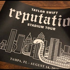 taylor swift tampa poster iso